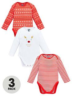 v-by-very-baby-unisex-3-pack-christmas-bodysuits-multi