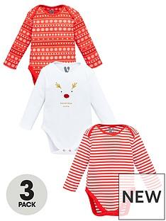 v-by-very-baby-unisex-3-pack-christmas-bodysuits-multi