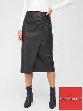 boss-pu-wrap-pencil-skirt-black