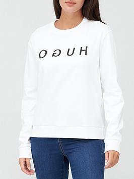 hugo-logo-sweat-top-white