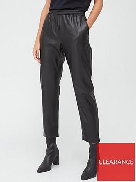 boss-casual-faux-leather-jog-pants-black