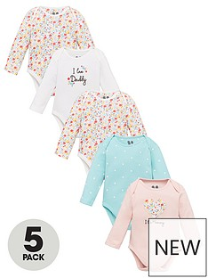 v-by-very-baby-girls-5-pack-mummy-and-daddy-bodysuit-multi