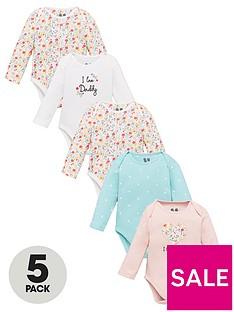 v-by-very-baby-girls-5-pack-mummy-and-daddy-bodysuit-multi
