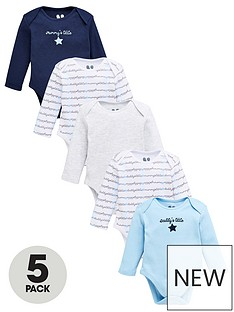 v-by-very-baby-boys-5-pack-mummy-and-daddy-bodysuit-multi