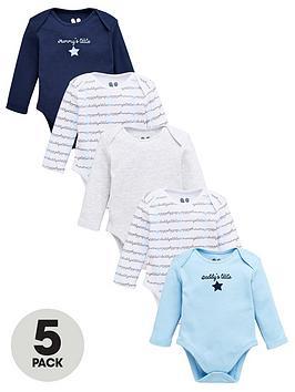 v-by-very-baby-boys-5-pack-mummy-and-daddy-bodysuit-multi