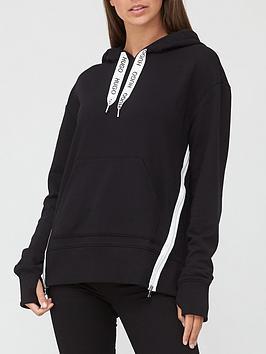hugo-dreali-side-stripe-hoodie-black