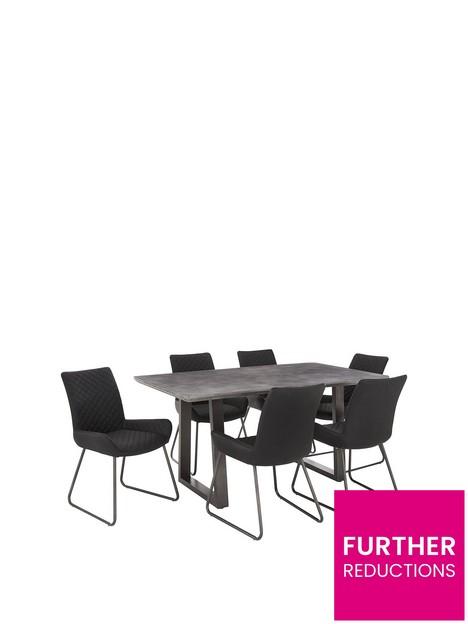 bronx-160-cmnbspconcrete-effect-dining-table-nbsp6-chairs