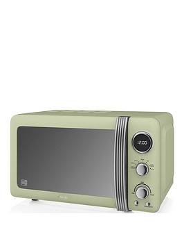 swan-retro-20-litre-digitalnbspmicrowave-green