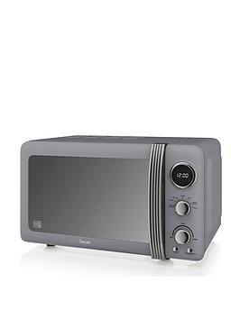 Swan Retro Microwave - Grey