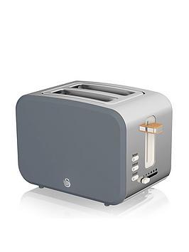 Swan Nordic 2 Slice Toaster - Grey