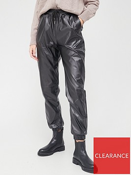 missguided-missguided-faux-leather-jogger-trousers-black