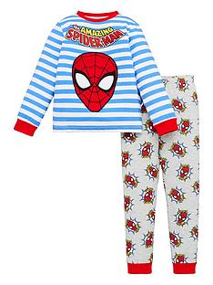 spiderman-boys-spiderman-striped-long-sleeves-pjs-with-embroidered-patch