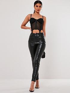 missguided-missguidednbspfaux-croc-leather-trousers-black