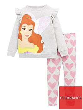disney-princess-girls-princess-belle-flip-sequin-frill-sweat-and-legging-set-grey