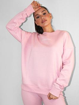 missguided-missguided-basic-oversized-sweat-top-pink