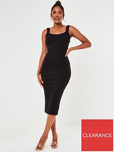missguided-scoop-neck-cami-ribbed-midi-dress-black