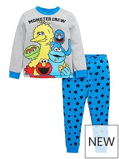 sesame-street-boys-monster-crew-long-sleeve-pjs-grey