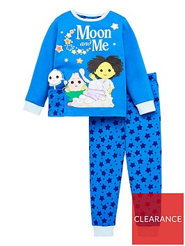 moon-and-me-unisex-childrensnbspmoon-and-me-pyjamasnbspwith-wadded-moon-baby-blue