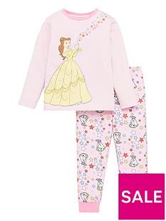 disney-princess-girlsnbspbelle-and-mrs-potts-pyjamas-pink