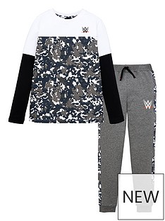 wwe-boys-2-piece-mock-sleeve-t-shirt-and-jogger-set-multi