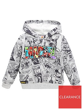 marvel-boysnbspcomic-strip-print-hoodie-grey