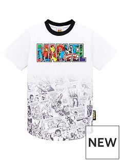 marvel-boysnbspcomic-strip-curve-hem-t-shirt-white