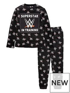 wwe-boysnbspfleece-superstar-in-training-pjs-black