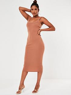 missguided-missguided-scoop-neck-cami-ribbed-midi-dress-tan