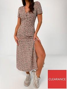 missguided-missguided-half-button-floralnbspmidi-tea-dress-blush
