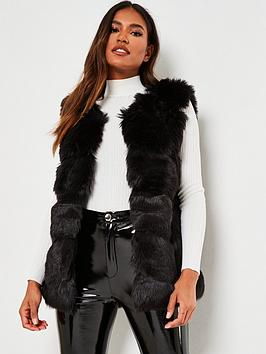 missguided-missguided-faux-fur-bubble-gilet-black