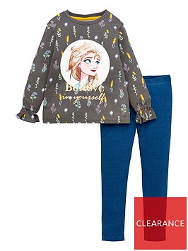 disney-frozen-girlsnbspbelieve-in-yourself-tie-cuff-top-and-jegging-set-multi