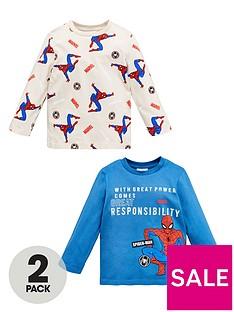 spiderman-boys-spiderman-2-pack-long-sleeve-t-shirts-multi