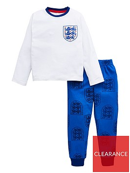 england-unisex-kidsnbspmotif-long-sleeve-football-kit-pj-set-blue