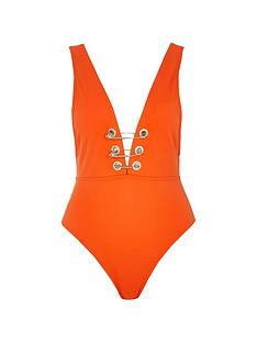river-island-plunge-pin-detail-swimsuit-red