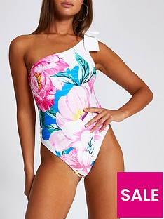 river-island-bold-floral-bow-tie-one-shoulder-rib-swimsuit-white