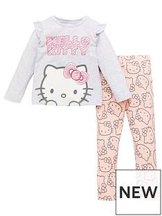 hello-kitty-girls-hello-kitty-2-piece-glitter-top-and-legging-set-beige
