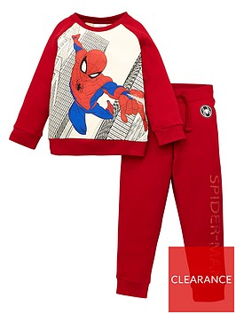 spiderman-boysnbsp2-piece-raglan-sleeve-tracksuit-burgundy