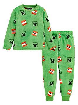 minecraft-boys-minecraft-all-over-print-fleece-pyjamas-green