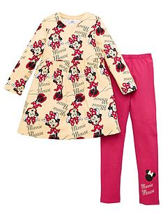 minnie-mouse-girls-minnie-mouse-2-piece-skater-dress-and-legging-set-grey