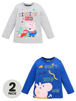 peppa-pig-boys-george-pig-2-pack-long-sleeve-t-shirts-bluegrey