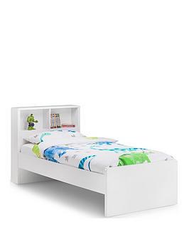 Product photograph showing Julian Bowen Manhattan Bookcase Bed 90cm