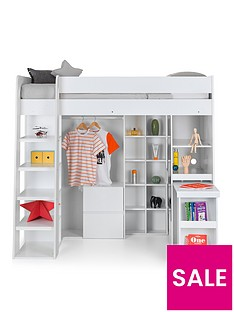 julian-bowen-aurora-high-sleeper-bed-with-desk-drawers-hanging-rail-and-shelving