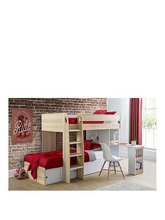 julian-bowen-eclipse-bunk-bed-scandinavian-oak-effectwhite