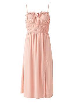river-island-floral-trim-pleated-beach-midi-dress-pink