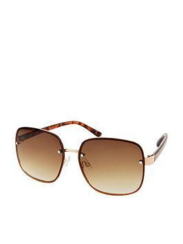 accessorize-retro-wire-square-sunglasses-red