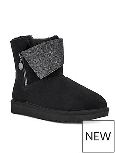 ugg-classic-caviar-mini-ankle-boot-black