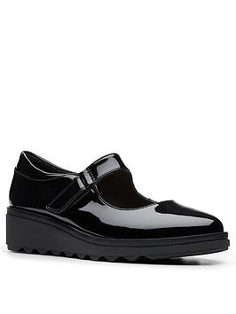clarks-sharon-shore-low-wedge-shoe-black