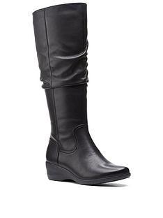 clarks-rosely-hi-knee-high-boot-black