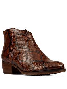 clarks-mila-myth-snake-print-ankle-boot