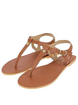Accessorize Charm Detail Sandal - Tan